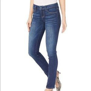 Paige wash blue mid-rise skinny jeans size…